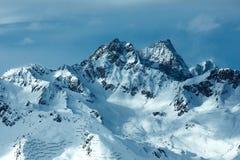 Vista di inverno delle alpi di Silvretta (Austria) Fotografia Stock