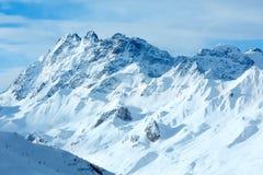 Vista di inverno delle alpi di Silvretta (Austria) Fotografia Stock Libera da Diritti