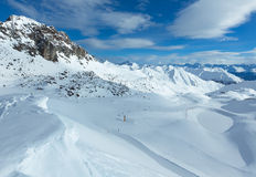 Vista di inverno delle alpi di Silvretta (Austria) Fotografie Stock
