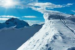 Vista di inverno delle alpi di Silvretta (Austria) Fotografie Stock Libere da Diritti