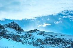 Vista di inverno delle alpi di Silvretta (Austria) Immagine Stock Libera da Diritti