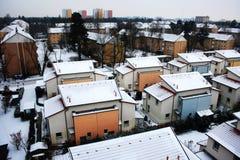 Vista di inverno di Erlangen Fotografia Stock