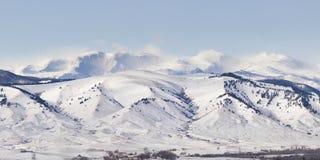 Vista di inverno, montagne del Big Horn Immagini Stock Libere da Diritti