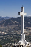 Vista di Jaén Mirador Fotografia Stock Libera da Diritti