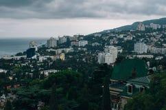 Vista di Jalta dal funicolare Fotografia Stock Libera da Diritti
