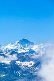 Vista di Jungfrau in alpi svizzere Fotografia Stock Libera da Diritti