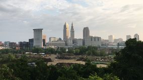 vista di 4K UltraHD del centro urbano di Cleveland video d archivio