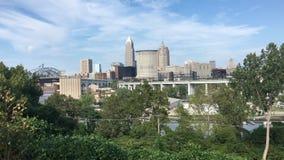 vista di 4K UltraHD dell'orizzonte di Cleveland, Ohio video d archivio