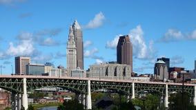 vista di 4K UltraHD Timelapse dell'orizzonte di Cleveland video d archivio