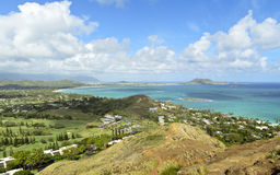 Vista di Kailua Immagini Stock