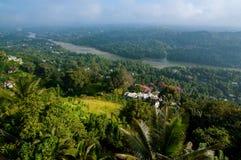 Vista di Kandy Fotografia Stock