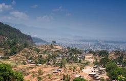 Vista di Kathmandu Fotografia Stock Libera da Diritti