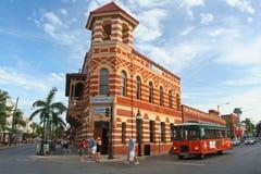 vista di Key West del centro fotografia stock
