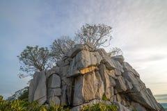 Vista di Khao né di mattina a Nakhon Sawan, Tailandia immagini stock libere da diritti