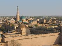 Vista di Khiva, l'Uzbekistan Fotografie Stock Libere da Diritti