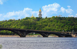 Vista di Kiev-Pechersk Lavra a Kiev Immagine Stock Libera da Diritti