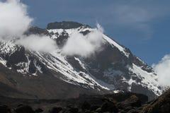 Vista di Kilimanjaro con neve Fotografia Stock Libera da Diritti