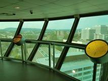 Vista di Knoxville, Tennessee dalla torre di osservazione Immagine Stock