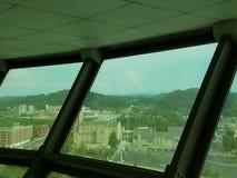 Vista di Knoxville, Tennessee dalla torre di osservazione Fotografia Stock Libera da Diritti