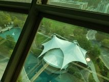 Vista di Knoxville, Tennessee dalla torre di osservazione Fotografie Stock Libere da Diritti