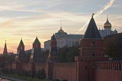 Vista di Kremlin a Mosca, Russia immagine stock libera da diritti