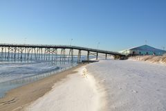Vista di Kure BeachPier Fotografia Stock