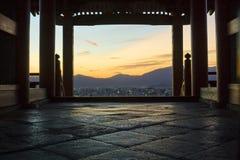 Vista di Kyoto dal tempiale Fotografie Stock