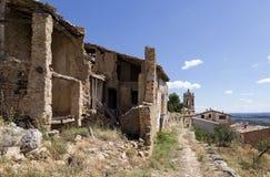 Vista di La Fresneda a Teruel Fotografia Stock