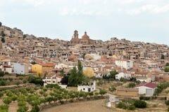 Vista di La Fresneda a Teruel Fotografia Stock Libera da Diritti