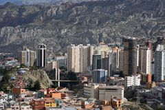 Vista di La Paz fotografia stock libera da diritti