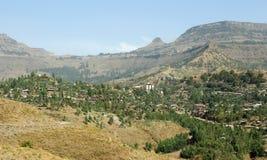Vista di Lalibela, Etiopia Fotografia Stock