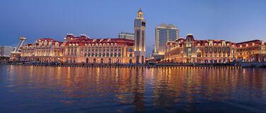 Vista di LandscapeâNight della città di Tianjin immagine stock libera da diritti