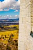 Vista di Landsqape dal castello del Neuschwanstein fotografie stock