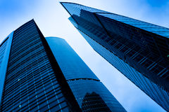 Vista di lato alle finestre moderne Immagine Stock Libera da Diritti