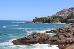 Vista di Leblon e di Vidigal in Rio de Janeiro Fotografia Stock