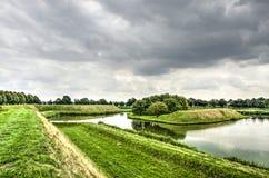 Vista di Leusden dai bastioni fotografia stock libera da diritti
