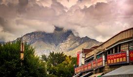 Vista di Lhasa nel Tibet Fotografie Stock