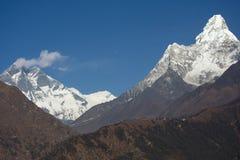 Vista di Lhotse Fotografia Stock Libera da Diritti