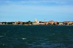 Vista di Lido da San Servolo, Venezia Fotografia Stock Libera da Diritti