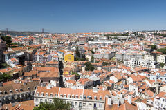 Vista di Lisbona della città Immagine Stock Libera da Diritti