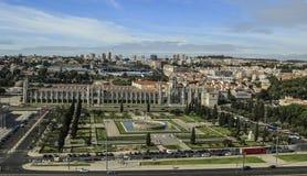 Vista di Lisbona, la capitale del Portogallo Fotografie Stock Libere da Diritti