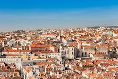 Vista di Lisbona, Portogallo Fotografia Stock