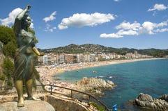 Vista di lloret de marzo, Costa Brava, Spagna Fotografie Stock Libere da Diritti