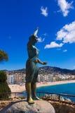 Vista di lloret de marzo, Costa Brava, Spagna Fotografia Stock