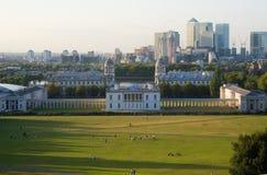 Vista di Londra da Greenwich Fotografie Stock Libere da Diritti