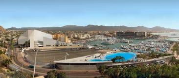 Vista di Los Cabos (Cabo San Lucas), Messico da sopra Panorama Fotografia Stock