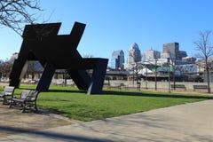 Vista di Louisville vicino al lungofiume fotografia stock