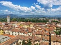 Vista di Lucca Immagini Stock
