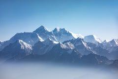 Vista di luce del giorno dell'Everest Immagini Stock Libere da Diritti