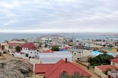 Vista di Luderitz nel Namibia fotografia stock libera da diritti